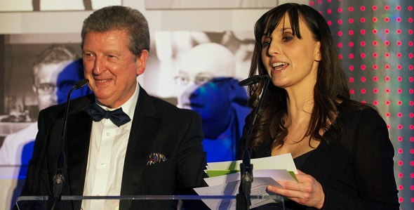 Roy Hodgson & Jayne Middlemiss at the Bobby Moore Cancer Research Fund